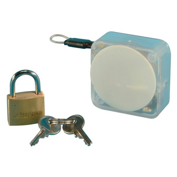 Clear Handbag Security w/Padlock