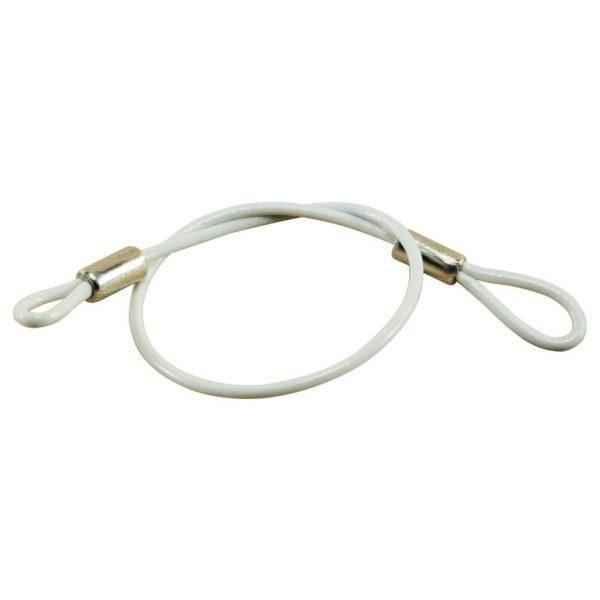 8″ Lanyard w/5/8″ Loop on each end, White