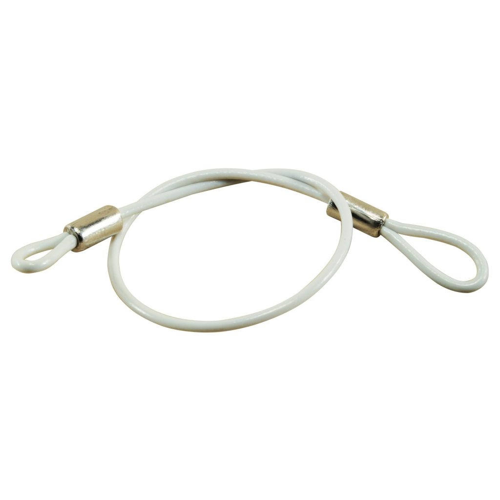 8″ Lanyard w/5/8″ Loop on each end, White