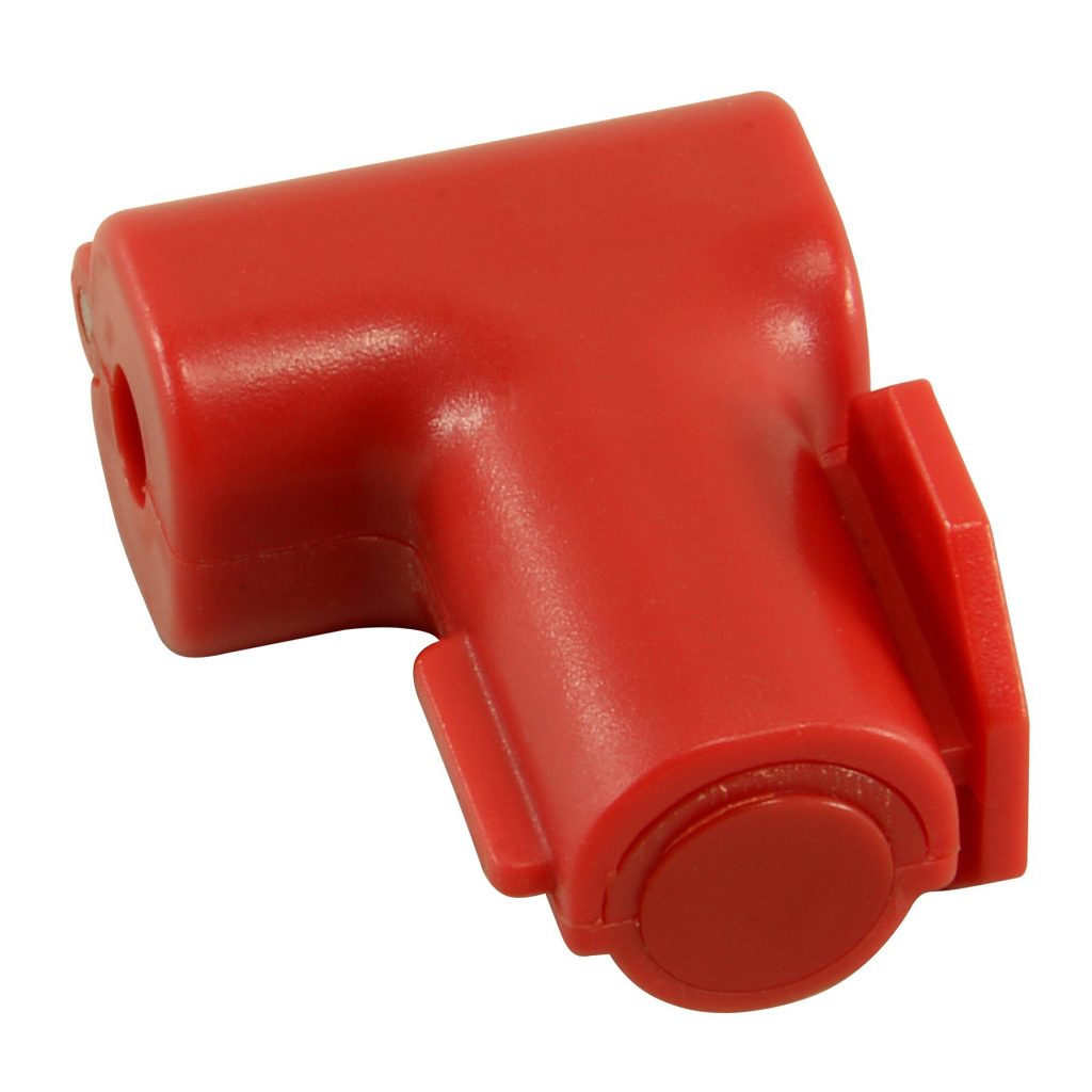 Extended Peg Hook Lock, Red, 5mm dia. Hole