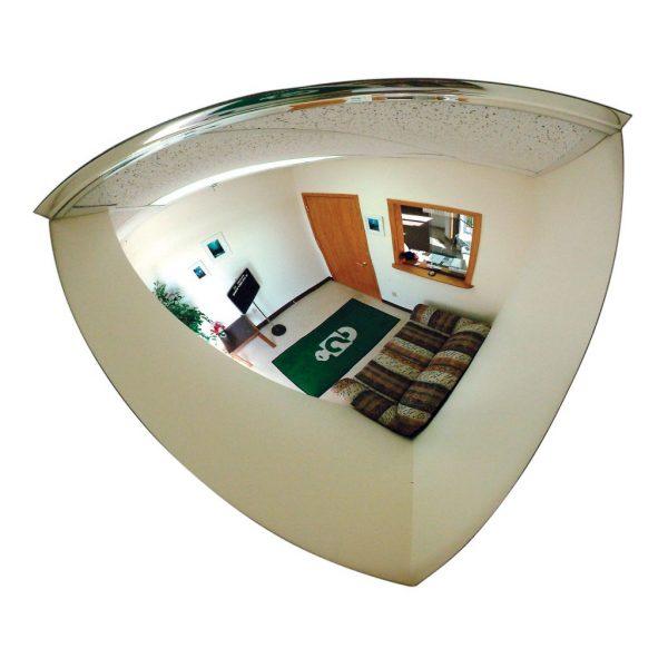 Omni-View Mirrored Quarter Dome, 18″